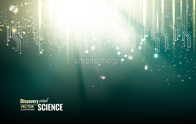 Circuit blue lights background. Vector illustration.のイラスト素材 [FYI03064710]