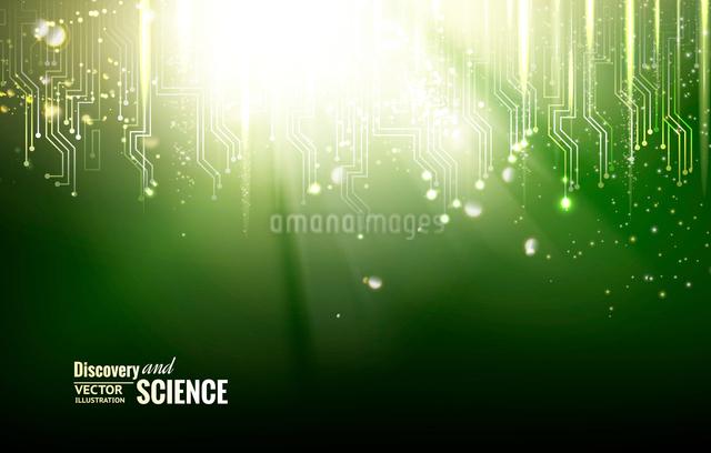Circuit blue lights background. Vector illustration.のイラスト素材 [FYI03064712]