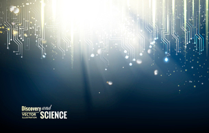 Science blue lights background. Vector illustration.のイラスト素材 [FYI03064736]