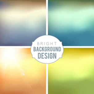 4 Blur Background Set. Sepia blurred backgrounds. Vector Illustration.のイラスト素材 [FYI03064743]
