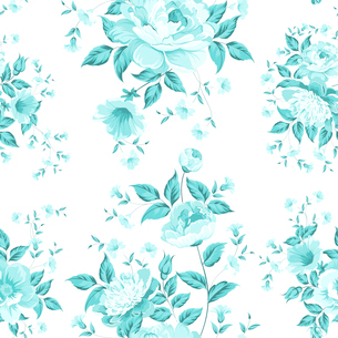 Luxurious peony wallpaper in vintage style. Vector illustration.のイラスト素材 [FYI03064753]