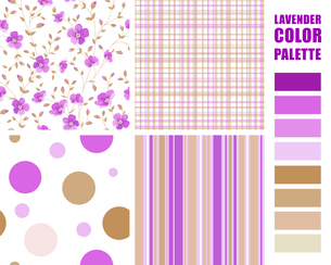 Fabric texture palette with complimentary swatches. Vector illustration.のイラスト素材 [FYI03064773]