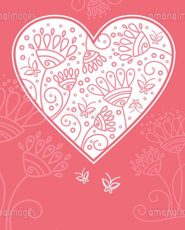 Floral heart designのイラスト素材 [FYI03065021]