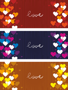 Horizontal love bannersのイラスト素材 [FYI03065099]