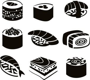 Set of sushiのイラスト素材 [FYI03065115]