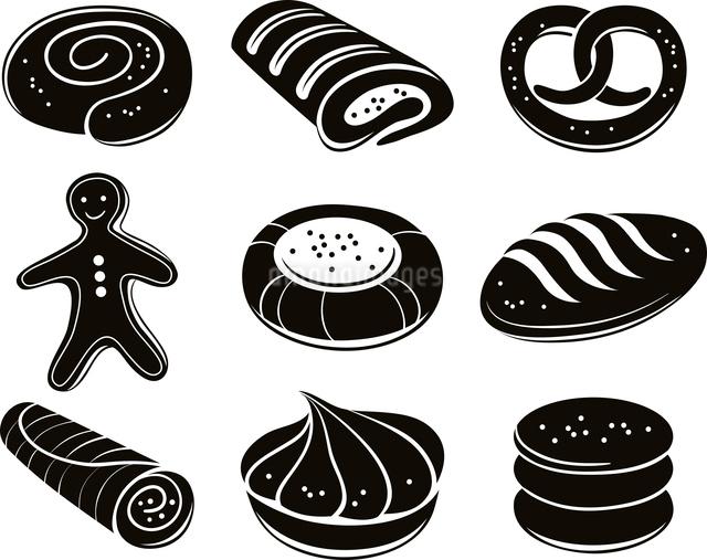 Bakery icon setのイラスト素材 [FYI03065163]