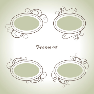 Set of vintage framesのイラスト素材 [FYI03065168]