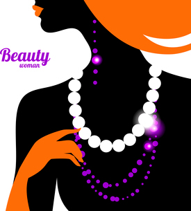 Beautiful woman silhouetteのイラスト素材 [FYI03065233]