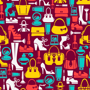 Seamless pattern with beauty female iconsのイラスト素材 [FYI03065269]