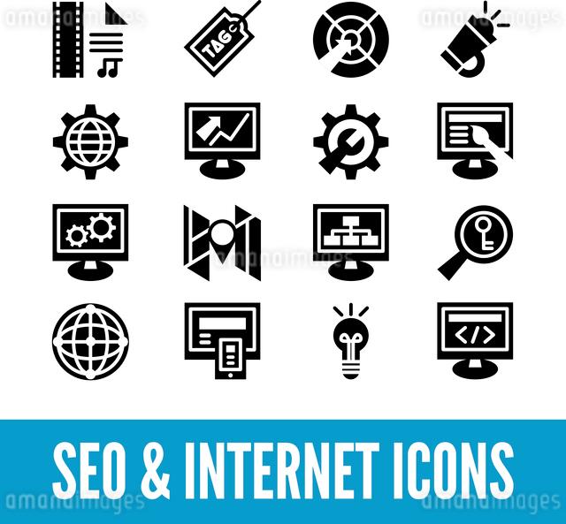 SEO and internet optimization icon set. Isolated vector illustrationのイラスト素材 [FYI03065389]