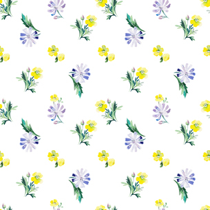 Watercolor floral seamless pattern. Vector illustrationのイラスト素材 [FYI03065403]