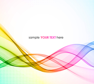 Abstract colorful vector template waved background. EPS10のイラスト素材 [FYI03065447]