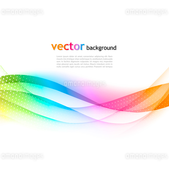 Abstract colorful vector template waved background. EPS10のイラスト素材 [FYI03065451]