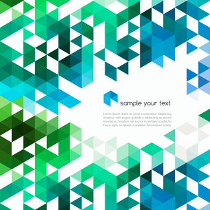 Abstract technology background with color triangle shapes. Vector illustration.のイラスト素材 [FYI03065460]