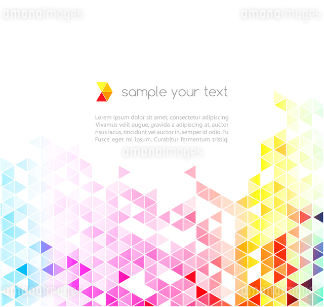 Abstract colorful triangles vector background.のイラスト素材 [FYI03065509]