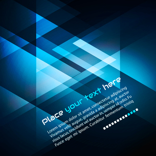 Elegant Geometric Blue Background - Vector Illustration For Business Brochureのイラスト素材 [FYI03065516]
