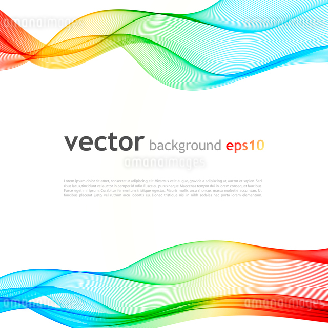Abstract colorful background. Spectrum wave. Vector illustrationのイラスト素材 [FYI03065530]