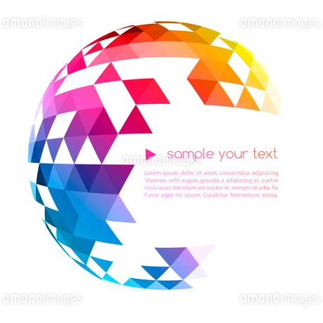 Abstract colorful  geometric background. Vector illustration EPS 10のイラスト素材 [FYI03065545]