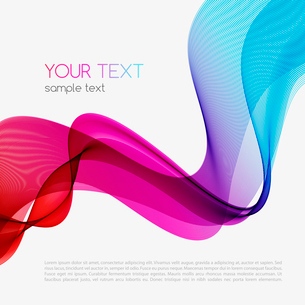 Abstract colorful background. Spectrum wave. Vector illustrationのイラスト素材 [FYI03065546]