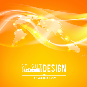 Abstract shine background of world map. Vector illustration.のイラスト素材 [FYI03065565]