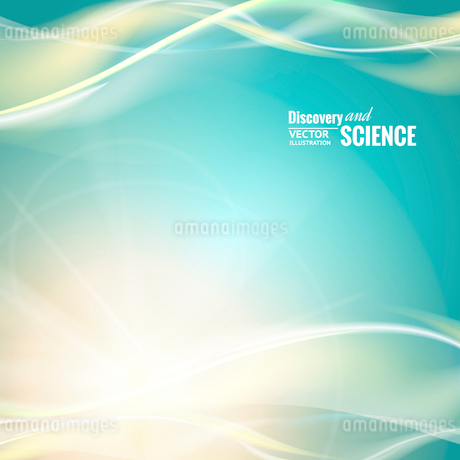 Abstract blue lights for science background. Vector illustrationのイラスト素材 [FYI03065570]