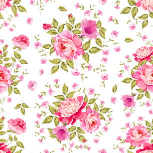 Luxurious color peony seamless pattern. Vector illistration.のイラスト素材 [FYI03065581]