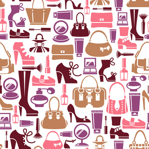Seamless pattern with beauty female iconsのイラスト素材 [FYI03065595]