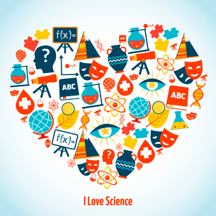 Education heart concept with science symbols vector illustrationのイラスト素材 [FYI03065640]