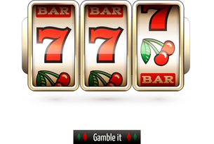 Game gamble casino slot machine realistic isolated on white background vector illustrationのイラスト素材 [FYI03065654]