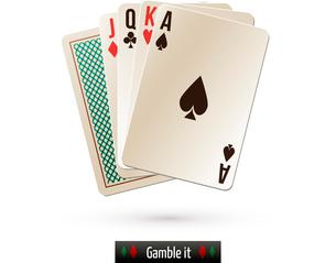 Game casino poker black jack card set realistic isolated on white background vector illustrationのイラスト素材 [FYI03065655]