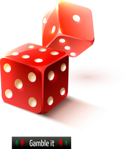 Game gamble casino dice set realistic isolated on white background vector illustrationのイラスト素材 [FYI03065658]