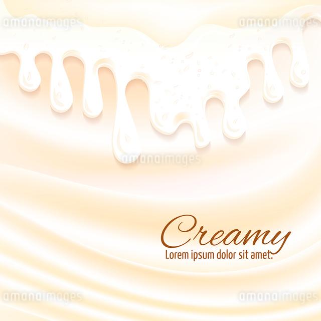 Milk drops and cream splashes sweet creamy background vector illustrationのイラスト素材 [FYI03065734]