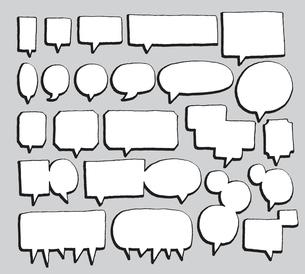 Vector speech bubbles setのイラスト素材 [FYI03065832]