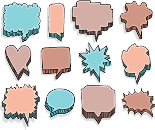 Color set of vector speech bubblesのイラスト素材 [FYI03065833]