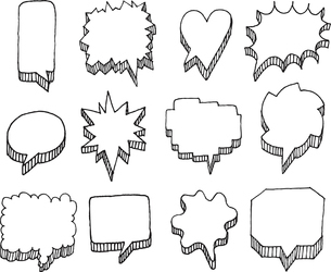Set of vector speech bubbles with volumeのイラスト素材 [FYI03065834]