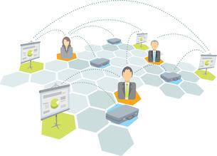 Business team network / Businessmen briefcase and presentation.のイラスト素材 [FYI03065844]