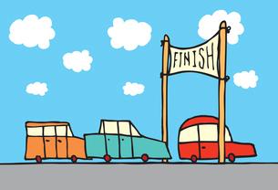 Car race finishのイラスト素材 [FYI03065850]