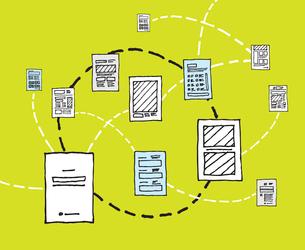 Information dynamics / Document network flowのイラスト素材 [FYI03065861]