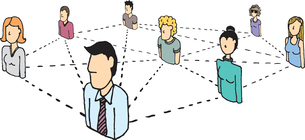 People Network / Social and business connectionsのイラスト素材 [FYI03065864]