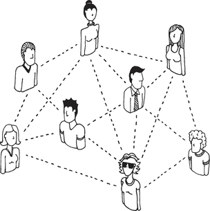 Social network connecting / People relations 2のイラスト素材 [FYI03065881]