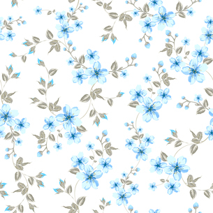 Cherry blossom seamless pattern. Vector illustration.のイラスト素材 [FYI03066134]