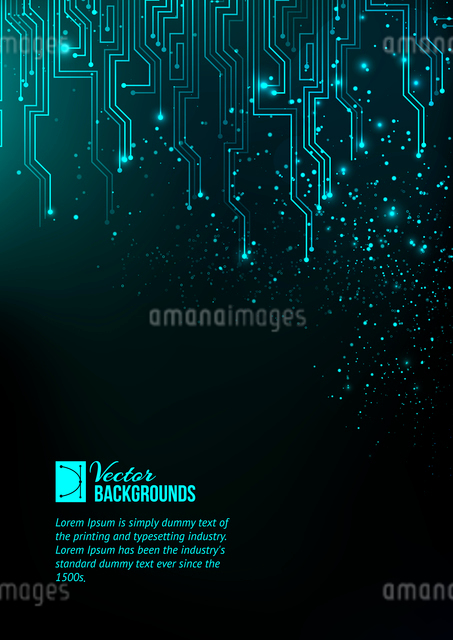 Abstract blue lights background. Vector illustration, contains transparencies, gradients and effectsのイラスト素材 [FYI03066140]