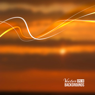 Beautiful abstract lights over sunset blur background. Vector illustration.のイラスト素材 [FYI03066143]