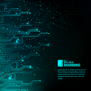 Abstract blue lights background. Vector illustration, contains transparencies, gradients and effectsのイラスト素材 [FYI03066144]