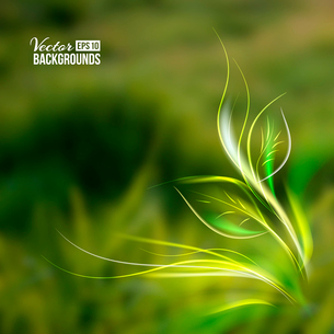 Beautiful abstract lights over grass blur background. Vector illustration.のイラスト素材 [FYI03066148]