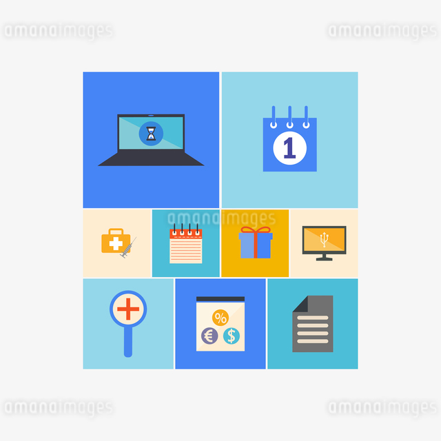 Office and Business Icons Set in Flat Designのイラスト素材 [FYI03066206]