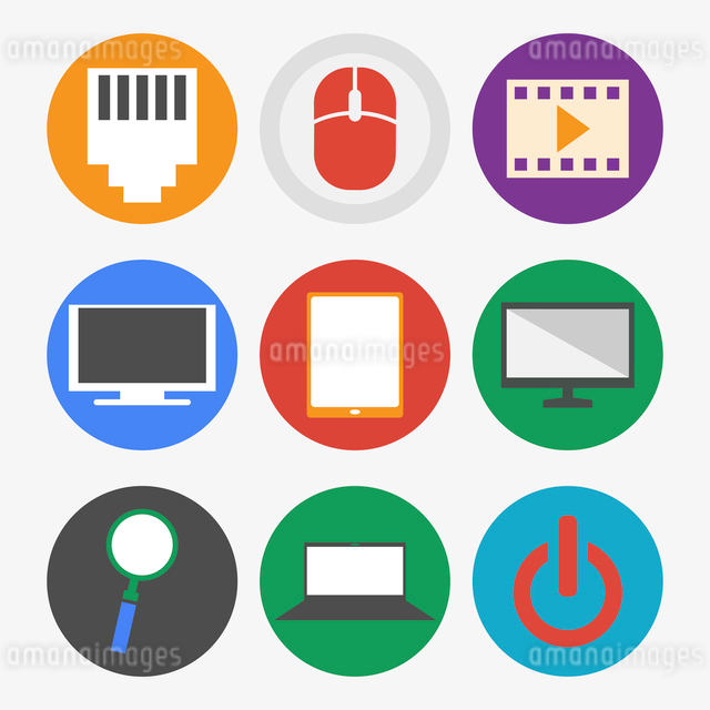 Office and Business Icons Set in Flat Designのイラスト素材 [FYI03066210]