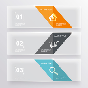 Set of glass banners.Can use to display information, ranking and statistics with orginal and modernのイラスト素材 [FYI03066241]