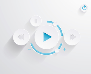 Flat multimedia player for web and mobile appsのイラスト素材 [FYI03066248]