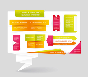Modern set of business infographic vector elementsのイラスト素材 [FYI03066323]
